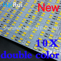2018 NEW double color low led strip High bright 50CM DC12V 72smds rigid 5730 lights kitchen bar