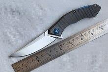 Fule poluchetkiy TC4 titanium D2 camping outdoor Flipper folding pocket hunting Survival knife ball bearing EDC tool knives