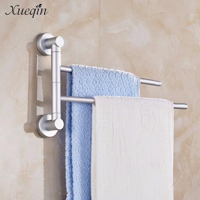 bath towel holder. Xueqin Space Aluminum Bathroom Towel Holder 2 Swivel Bars Bath Rack Rail Hanger Shelf Rotate
