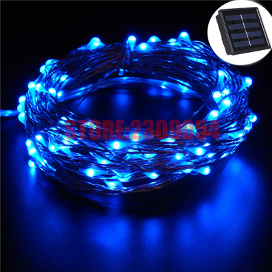 Image 2 - 33FT 10M 100 LEDs Garden LED Solar Lamp Light Solaris Panel Copper Wire String Light Outdoor Fairy Lamp For Wedding Christmas-in LED String from Lights & Lighting on AliExpress