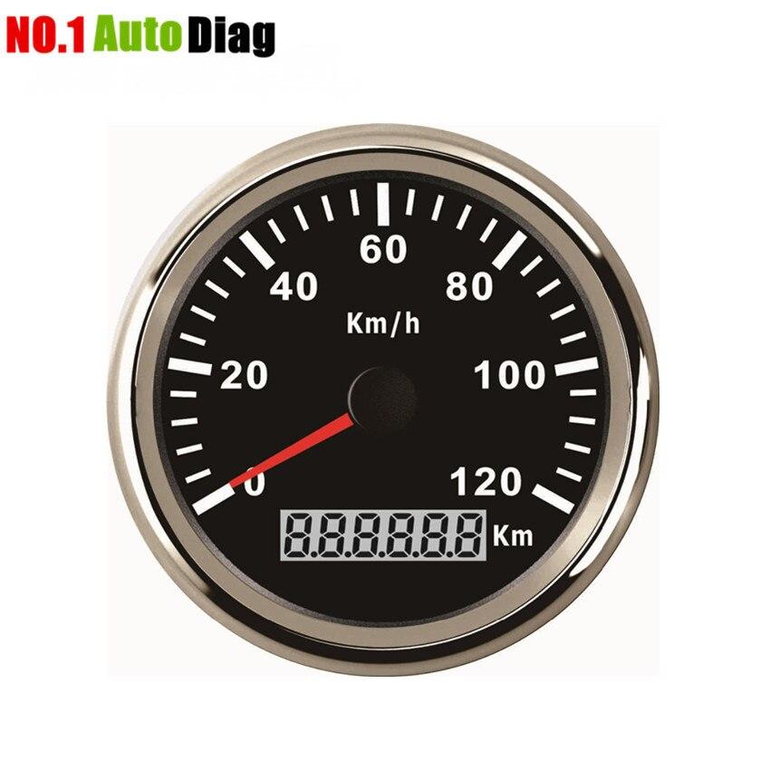 High Quality 85mm 120KMH GPS Speedometer Digital Gauge Stainless for Car Truck Boat 12V 24V IP67
