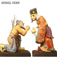 36cm statues for decoration Clay Wood Customizable People Statue home decor accessories sculpture figure escultura