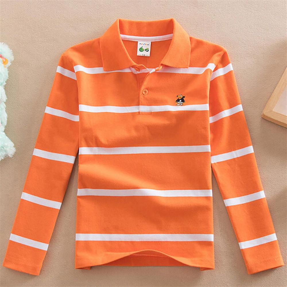 2018 Spring Autumn Boy Long Sleeve Striped Top Kids Boys Cotton For 2-15 Years Boy Clothes Children Clothing Kids Cotton Polo lovely spring pure cotton thomas and friends children clothing long sleeve tops pants for 2 7 years boy kids pajamas sleepwear