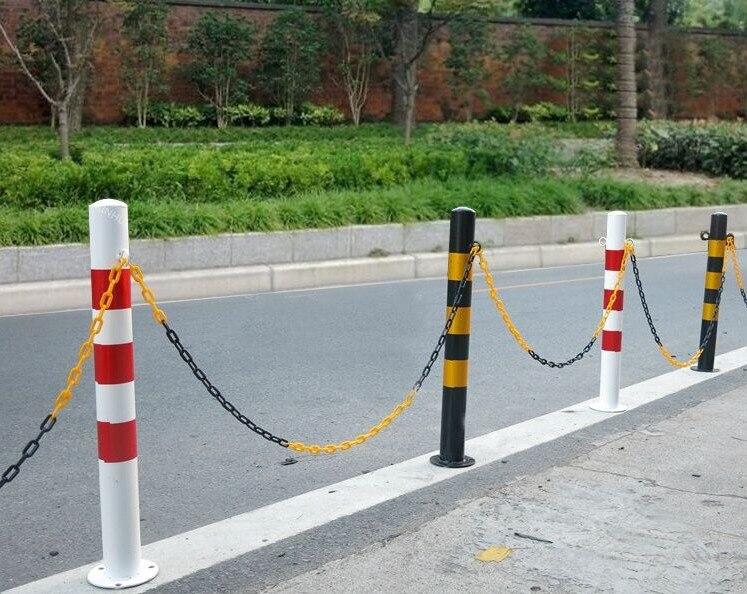 25 м пластиковые цепи безопасности дорожного движения политика оградительная цепь Защитная связь конусная Изоляция цепи транспортных средств