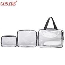 Zipper PVC makeup bag transparent Travel Cosmetic B