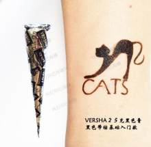 Black brown red white Henna Cones Indian Henna T attoo Paste For Temporary body art Sticker Mehndi Body p aint(China)