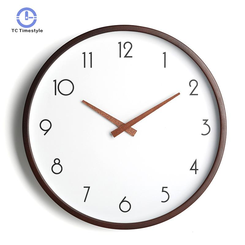 10 Inches Round Nordic  Wood Simple Modern Clock Table Bedroom Quartz Clock Mute Electronic Wood Wall Clock Living Room10 Inches Round Nordic  Wood Simple Modern Clock Table Bedroom Quartz Clock Mute Electronic Wood Wall Clock Living Room