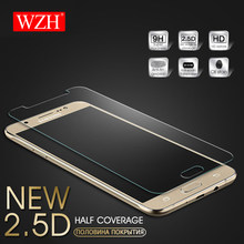 WZH 9H Tempered Glass For Samsung Galaxy J7 J5 J3 2016 2017 Screen Protector For Samsung A3 A5 A7 2015 2016 Tempered Glass Film(China)