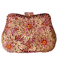 Classic designer Clutch bags studded Floral jeweled Luxury crystal ladies Evening Bags cocktail dinner bag women handbags SC038