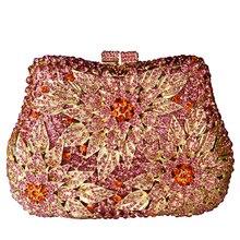 Klassische designer handtaschen besetzt Floral jeweled Luxus kristall damen Abendtaschen cocktail abendessen tasche frauen handtaschen SC038