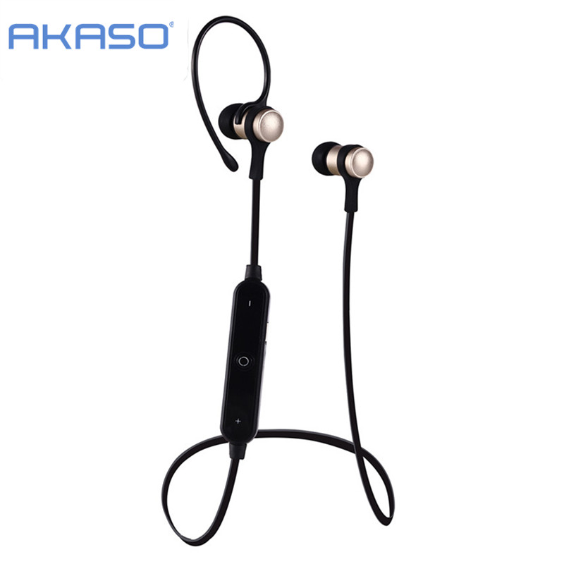 AKASO S6-1 Bluetooth 4.2 Headset Wireless Earphone Headphone  Earpiece Sport Running Stereo Earbuds With Microphone Auriculares free shipping wireless bluetooth headset sports headphone earphone stereo earbuds earpiece with microphone for phone