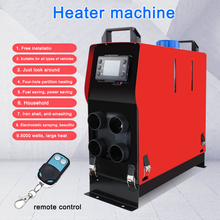 12V 5000W Parking Fuel Air Heater Car Truck Bus Boat Air Diesel Heater All-in-One Machine Parking Diesel Warmer Hole LCD Monitor 12v 24v 5000w parking fuel air heater fuel heater car air conditioning truck diesel parking heater