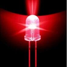 100 шт. WAVGAT 5 мм круглый красный супер яркий светодиод светодиодный светильник 5000MCD