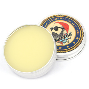Image 2 - Blue ZOO Natural Beard Oil Balm Moustache Styling Beeswax Moisturizing Smoothing Gentlemen Beard Balm Organic Men Grooming Kit