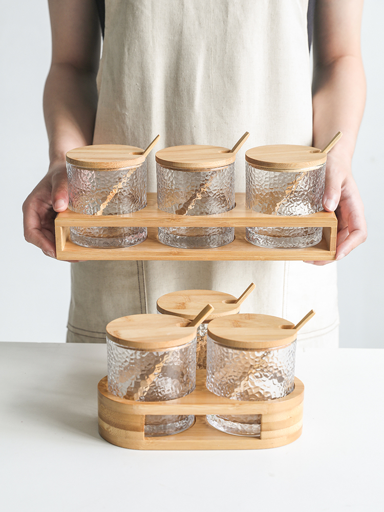 Japanese Style Hammer Glass Spice Shaker Pot