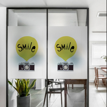 Frosted glass stickers Ins Nordic style Cartoon balloon Bathrooms balcony door windows electrostatic transparent opaque film