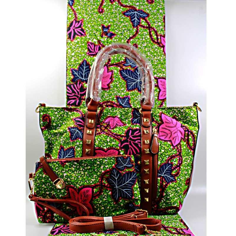 100/% cotton Ankara African print tote bag Wax Made in Ghana.