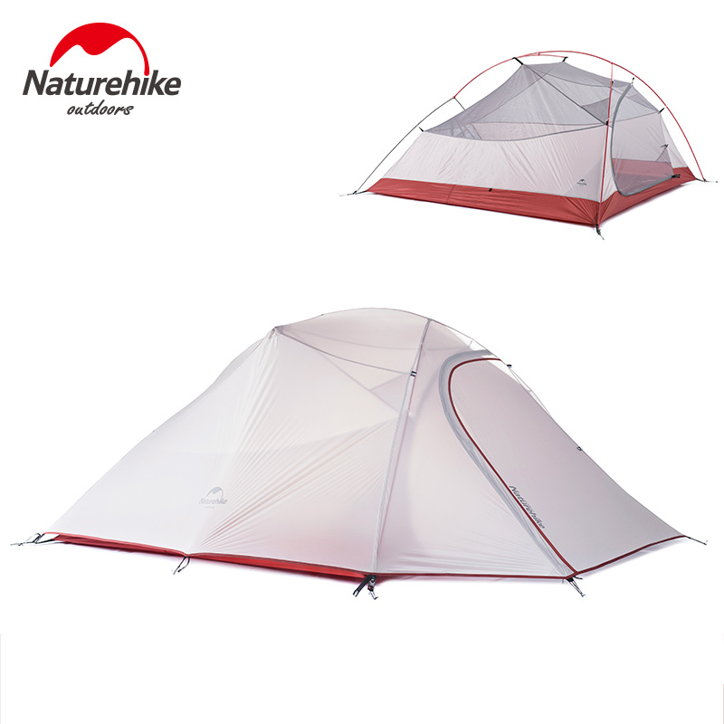 NatureHike 3 Person Tent Professional Backpacking Tent Lightweight Weatherproof Double Layer for Outdoor Family Camping Hunting pyramid indian camping tent 3 5 person outdoor family yurt tent ultra light double layer driving filed tent fireproof material