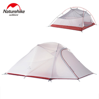 NatureHike 3 Person Tent Professional Backpacking Tent Lightweight Weatherproof Double Layer for Outdoor Family Camping Hunting