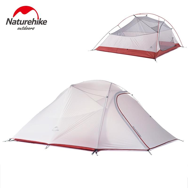 Naturetrekking 3 personnes tente professionnelle sac à dos tente légère résistant aux intempéries Double couche pour la famille en plein air Camping chasse
