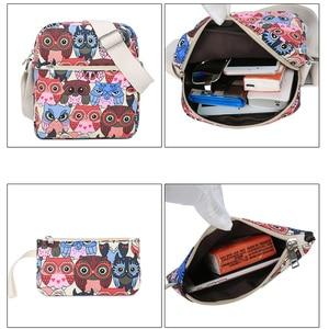 Image 3 - 2020女性動物フクロウ印刷バックパックキャンバスbookbagsスクールバックパック十代の少女bagpack backbag