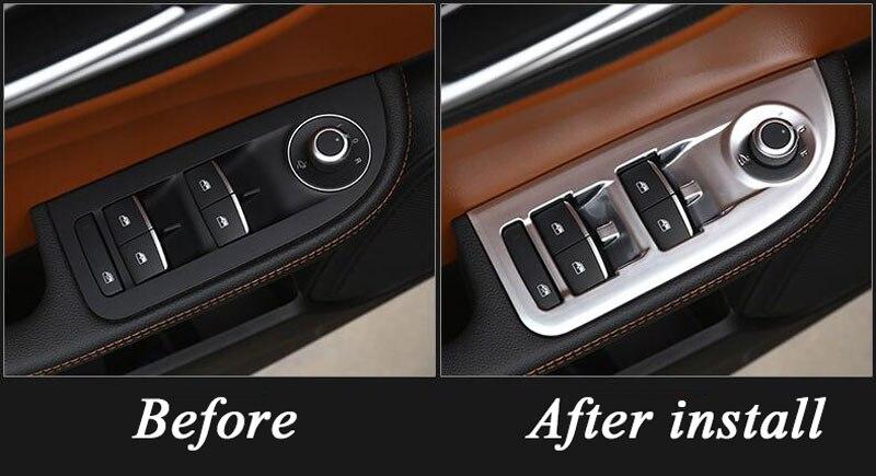DIYUCAR ABS Chrome Center console Decoration cover Trim for Left Handle driver For Giulia Stelvio