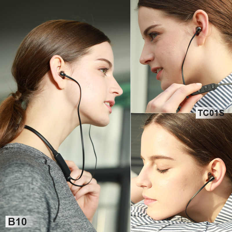 CBAOOO słuchawki Bluetooth słuchawki bezprzewodowe słuchawki zestaw słuchawkowy Bluetooth wiszące szyi wodoodporny Sport ceramiczne z mikrofonem do telefonu komórkowego