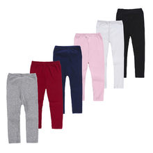 Infant Baby Girls Winter Leggings Solid Knee-length Pants Warm Cotton Clothes(China)