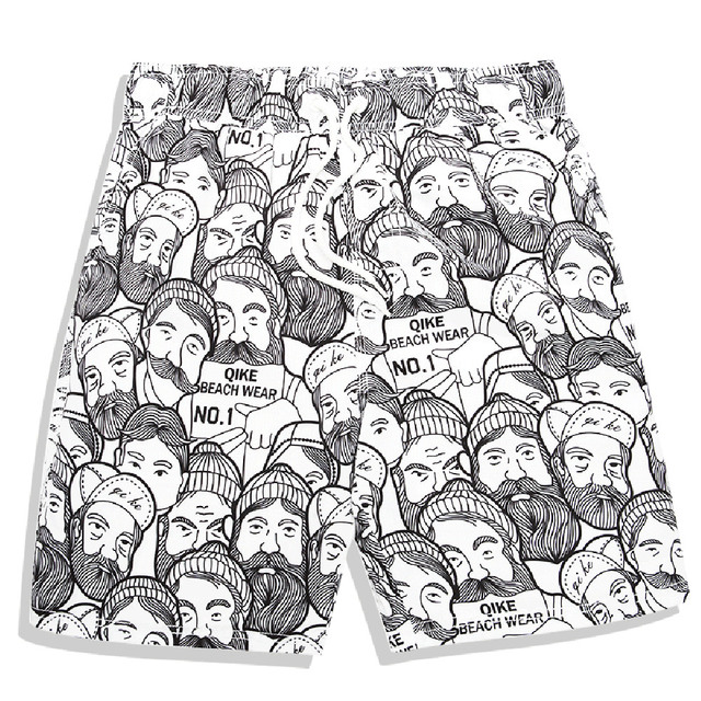 Compression Shorts Summer Men Beach Pants Crossfit Shorts Beachwear Large Size Body-Building Summer No lining Beach 252