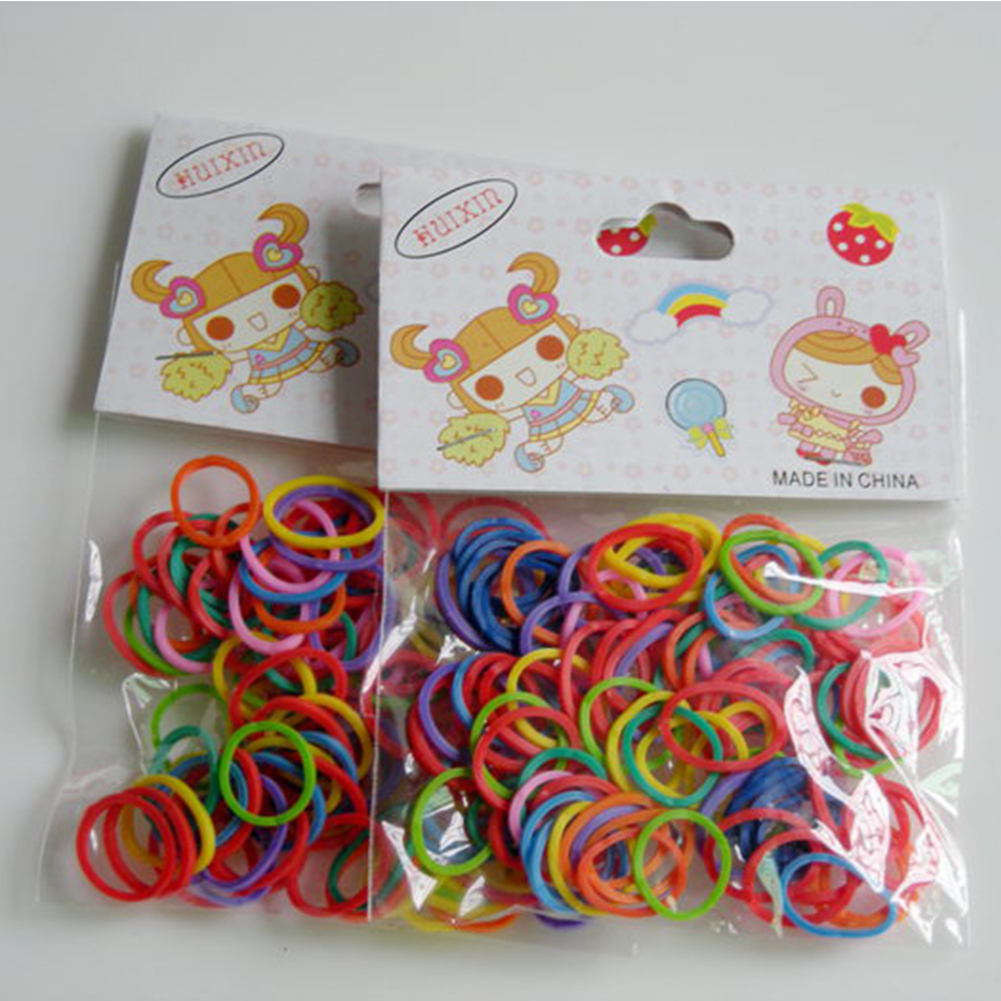 Pet Dog Hairband Newest Colorful Pet Beauty Grooming Rubber Band Pet Hair Product Pet Hairpin Hair Accessories 100Pcs/Bag #25