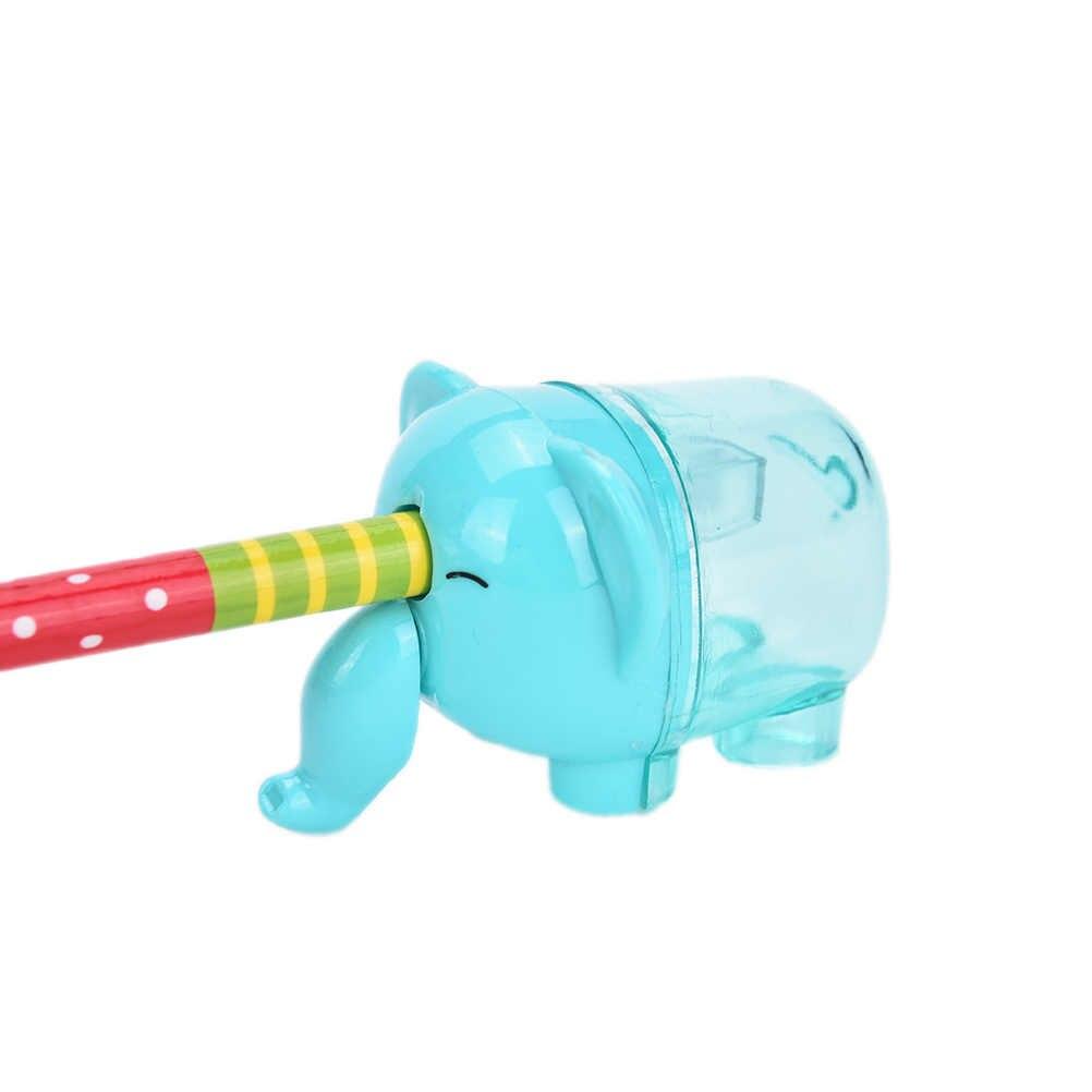 1 個クリエイティブかわいい動物象の形のミニ鉛筆削りカッターナイフ子供学生賞ステーショナリー学用品