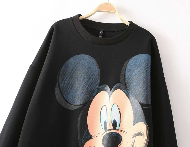 2020 Autumn and Winter New Style Women Fashion Warm Mickey Print - Women's Clothing - Photo 2