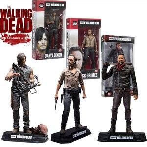 Image 1 - Figurine AMC The Walking Dead, jouet à collectionner, modèle en PVC, 15CM, jouet Daryl Rick Negan, cadeau pour enfant