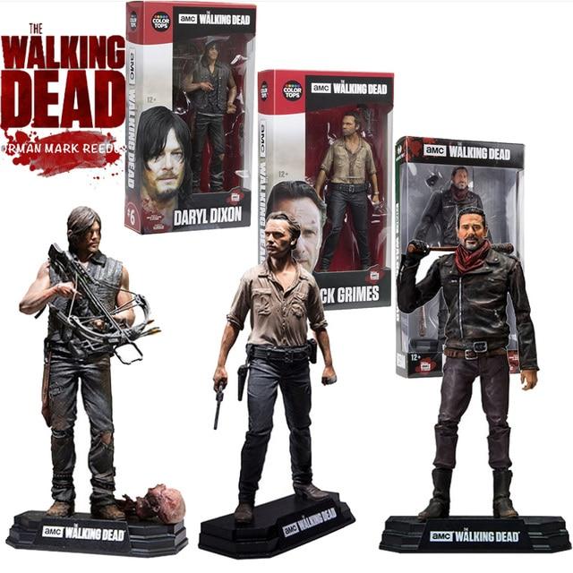 Figurine AMC The Walking Dead, jouet à collectionner, modèle en PVC, 15CM, jouet Daryl Rick Negan, cadeau pour enfant