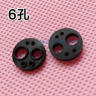 1pcs Dental 6hole Round Black Instruments Mobile Dental Phone Dental Six-hole Rubber Cushion Tail Gasket Seal Ring