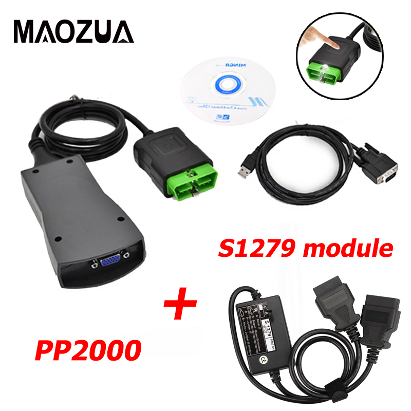 Professional Lexia3 V48 Diagbox V7.83 Module S.1279 Lexia Lexia 3 PP2000 V25 Diagnostic Connector S1279 For Peugeot For Citroen