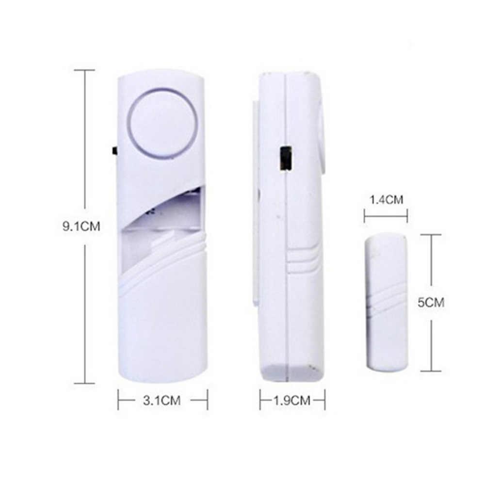 Alarma antirrobo de la ventana de la puerta inalámbrica 1Pc con la entrada de la puerta del Sensor magnético Dispositivo de seguridad del sistema de alarma del hogar antirrobo al por mayor