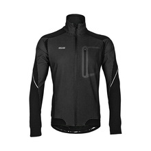 Arsuxeo Autumn Winter Men Cycling Jacket Warm Up Thermal Fleece Windbreaker Bicycle Clothing Windproof Waterproof MTB Bike Coat wosawe winter cycling jacket fleece thermal warm up bicycle clothing windproof windbreaker water resistance reflective jacket