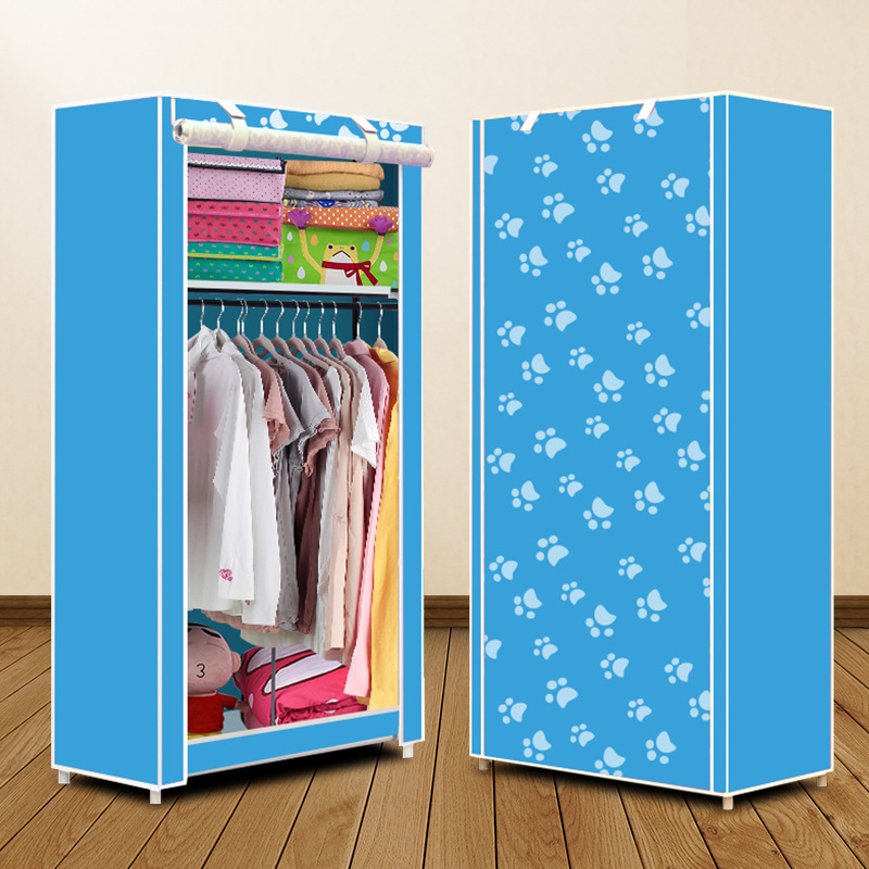 Actionclub Simple Small Wardrobe Folding Clothes Storage Cabinet Student Dormitory Economic Closet Non-woven Cloth Closet