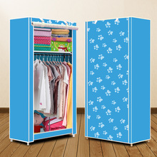 Actionclub Simple Small Wardrobe Folding Clothes Storage Cabinet Student Dormitory Economic Closet Non woven Cloth Closet