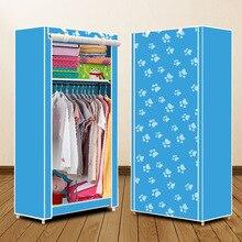 Actionclub Simple petite armoire pliante vêtements armoire de rangement étudiant dortoir économique placard vêtement en tissu non tissé placard