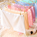 2015 Top Quality Brand Girl Safety Panties Comfort 9 Colors Cute Pink 100% Cotton Underwear Women Boxer Briefs String 6NK008-1