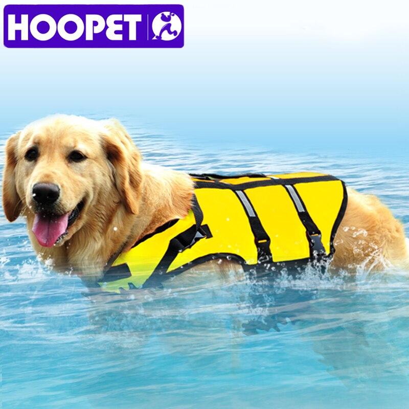 HOOPET Große Großen Hund Leben Jacke Sicherheit Weste Surfen Schwimmen Kleidung Sommer Urlaub Oxford Atmungsaktive Mesh Bulldog