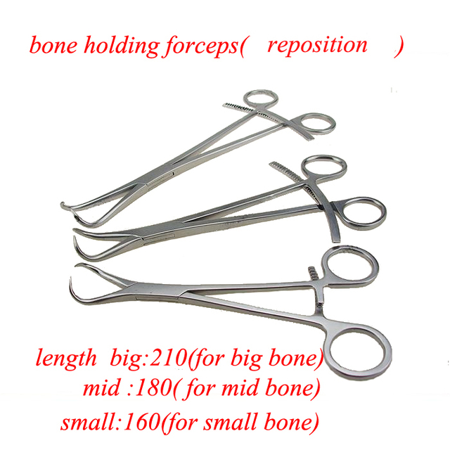 Medical orthopedics instrument stainless steel rongeur holding forceps for animals reposition forceps for VET instrument
