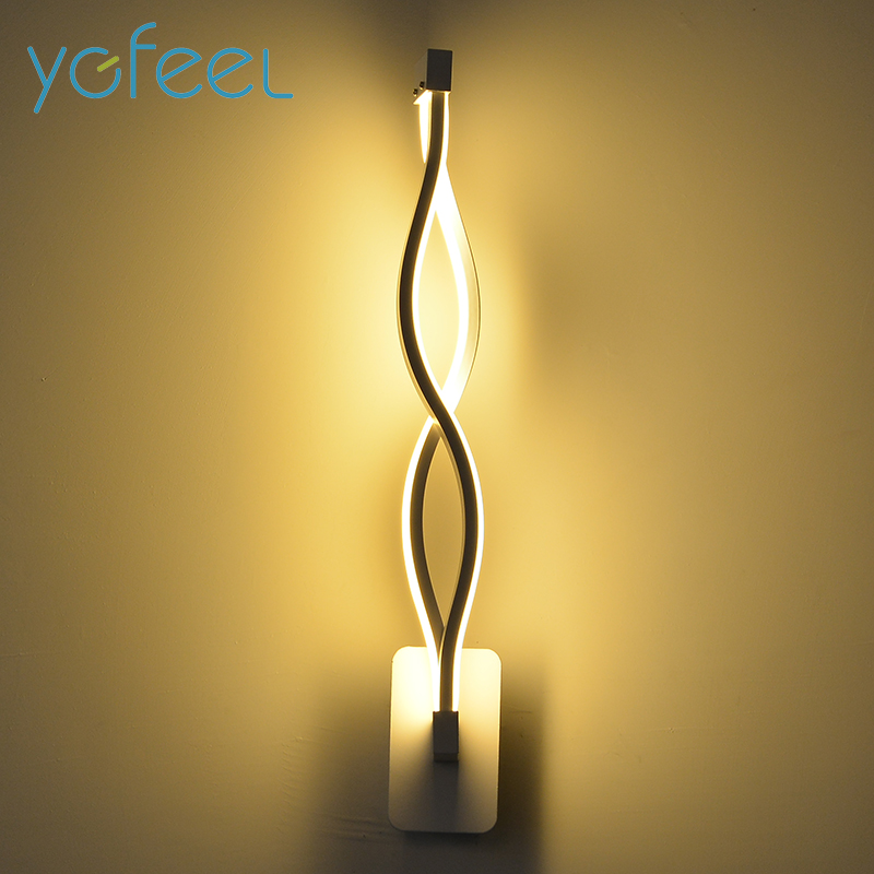 [YGFEEL] 16W LED Wall Lamp Modern Bedroom Beside Reading Wall Light Indoor Living Room Corridor Hotel Room Lighting Decoration bjornled america wall sconce copper wall lamp 2 arm fabric shade light living room restaurant cafe bedroom hotel e14 led lamp