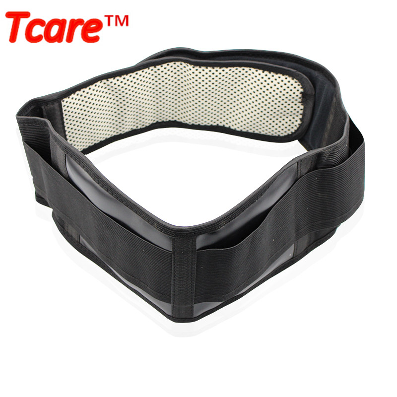 Tcare Tourmaline Self-heating Magnetic Therapy Waist Support Belt Lumbar Back Waist Support Brace Double Banded Adjustable Size