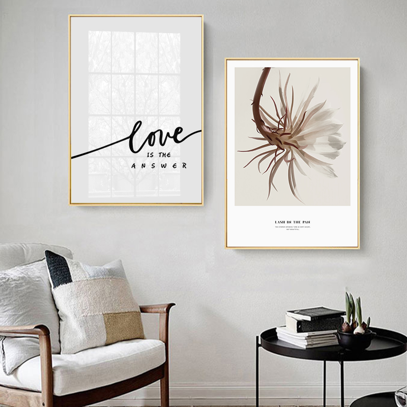 Girl Portrait Flower Leaves Plant Quotes Wall Art Canvas Painting Nordic Posters And Prints Wall Pictures For Living Room Decor in Painting Calligraphy from Home Garden