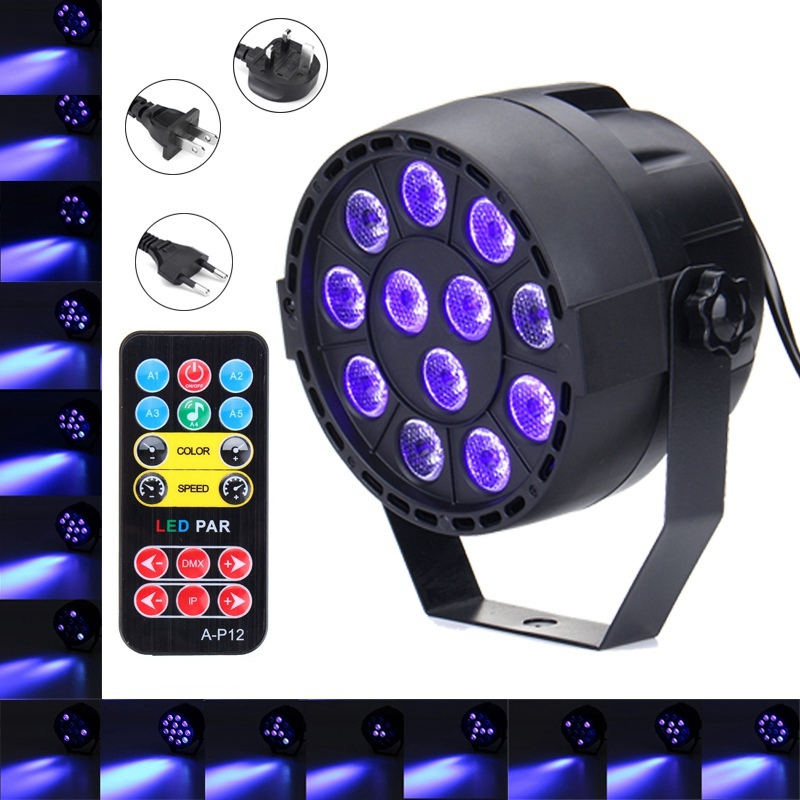 Best Price 36W UV Purple LED Stage Light DMX Stage Lighting Effect Par Lamp For Party Disco Club DJ Holiday Decoration Lights