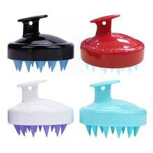 Head Hair Massage Brush Shampoo Scalp Silicone Comb Body Bath Spa Slimming Personel Health