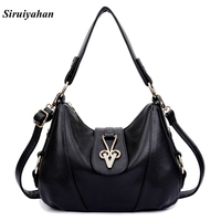 LUDESNOBLE Genuine Leather Bag Female Luxury Handbags Women Bags Designer Shoulder Bags Women Bag Female Sac